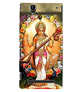 ColourCraft Maa Saraswati Design Back Case Cover for SONY XPERIA T2 ULTRA DUAL D5322