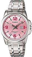 Watch for Women by Casio, Analog, Stainless steel, Silver, LTP-1314D-5A