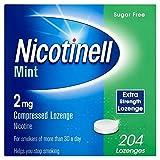 Nicotinell Nicotine Lozenge Stop Smoking Aid 2 mg Mint Sugar Free 204 Pieces