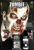 Hochwertiges Halloween ZOMBIE Make-Up Set, SFX-Komponenten Special Effects like Hollywood für Zombies, inkl. umfassender Anleitung und Schminktipps