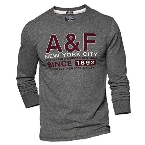 abercrombie-fitch-camiseta-de-manga-larga-manga-corta-para-hombre-dark-heather-gris-small