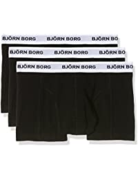 Bjorn Borg Men's Noos Contrast Solids Pack of 3 Boxer Shorts