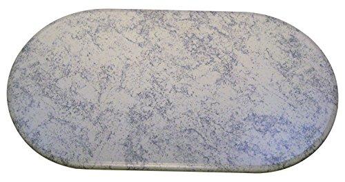 Werzalit Tischplatte, Oval Kristall, blau / weiß, 120 x 65 x 2.2 cm, 51000301T (Ovale Tischplatte)
