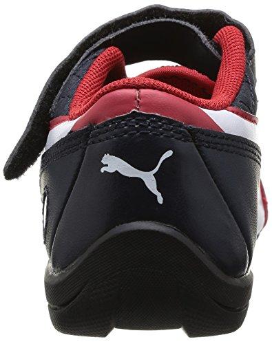 Puma Drift Cat 6 L Bmw Kids Bl, Chaussures basses à scratch bébé garçon Bleu (Bmw Team Blue/White/Ribbon Red)