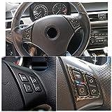 ABS Carbon Fiber Style Lenkrad Knopfleiste Trim für 3 Series E90 2005-2012 Style 1