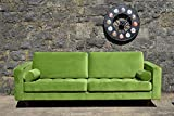 Sofa Venice Vintage Samt Grün 3 Sitzer 230