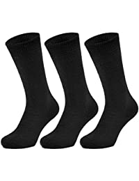 All Things Accessory 3 Pairs Thermal Socks - Brushed Thick Warm Winter Socks (Triple Pack)