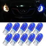 Blaue T10 W5W Auto-Leuchtmittel – 10 Stück 194 168 501 Halogen Birne Xenon Gas Auto Ersatz Birne Türbeleuchtung Kennzeichenbeleuchtung Armaturenbrett Licht hell DC 12 V