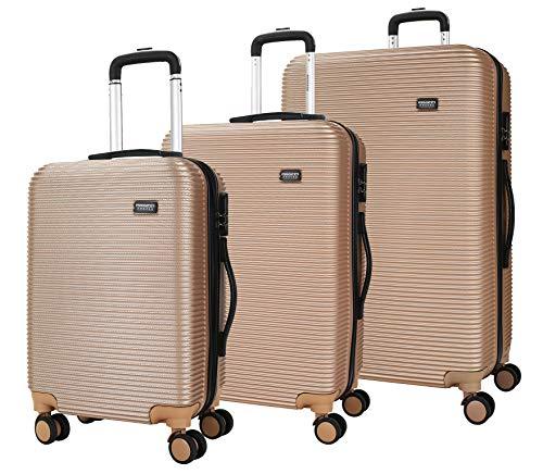!GÜNSTIG! Proffi 3 S/M/L HARTSCHALEN Trolley Kofferset Beige. Suitcase Set