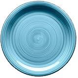 Mäser, Serie Bel Tempo, Teller-Set aus Steingut, 12-teilig für 6 Personen, Tafelservice Vintage, handbemalt, dunkelblau Vergleich