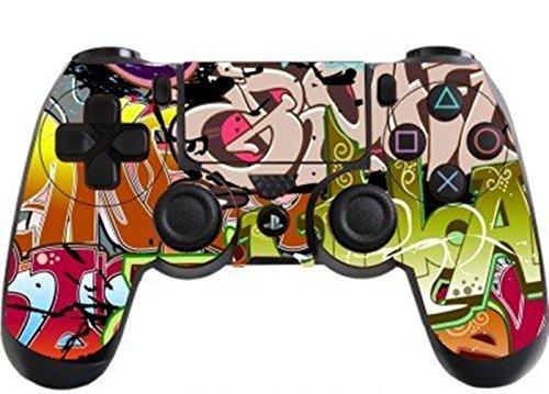 DOTBUY PS4 Pelli Adesivi Giochi Joystick Sony Playstation 4 Controller Dualshock Vinile Decalcomanie x 1 (Graffiti Colorful)