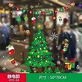 HAPPYLR Weihnachtsaufkleber Glasaufkleber Alter Mann Aufkleber Fenster Fensteraufkleber Tür und Fenster Dekorationen Szene Layout Ideen, Hyc64