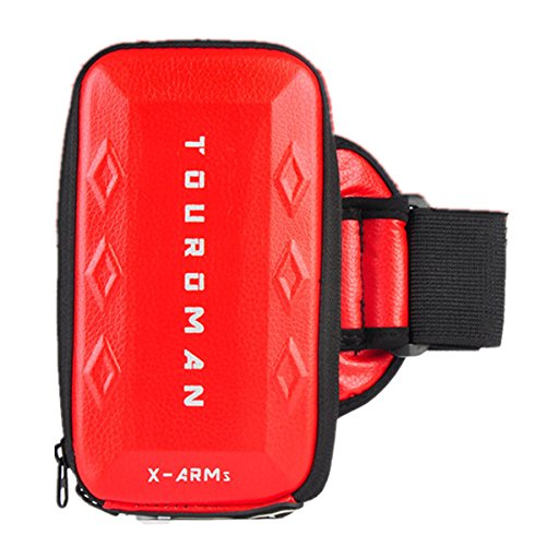 Bluelover Touroman Wasserdicht Outdoor Sport Running Fitnesstraining Arm Band Tasche Für Iphone 7 Plus Xiaomi 5S - Rot