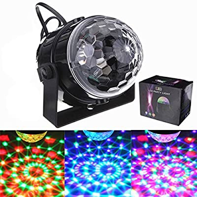 SOLMORE Mini RGB LED Stage Light Party Disco Club DJ Light Crystal Magic Ball Effect,UK Plug - cheap UK light shop.