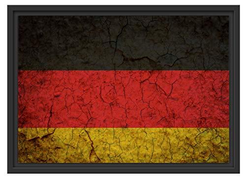 Picati Kunstdruck Deutschlandfahne Format: 55x40 im Schattenfugen-Bilderrahmen   Kunstdruck auf hochwertigem Galeriekarton   gerahmt