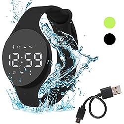 Hootracker Podomètre Bracelet Tracker d'activité-Simple, Compteur de Pas, Compteur de Calories, Charge d'usb pour Marcher Running Course a Pied Enfant-Black