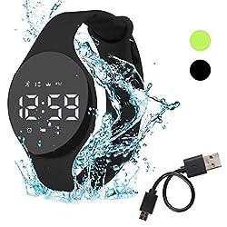 Hootracker Smartwatch Schrittzähler Fitness Armband Wasserdicht IP68 Aktivitätstracker Schrittzähler Kalorienzähler Ohne Bluetooth für Damen Kinder Herren Ohne App Handy