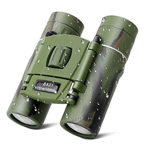 Debonice Mini Jumelles 8x21 Enfant Télescope Imperméable et Anti-Fall pour Observation des...