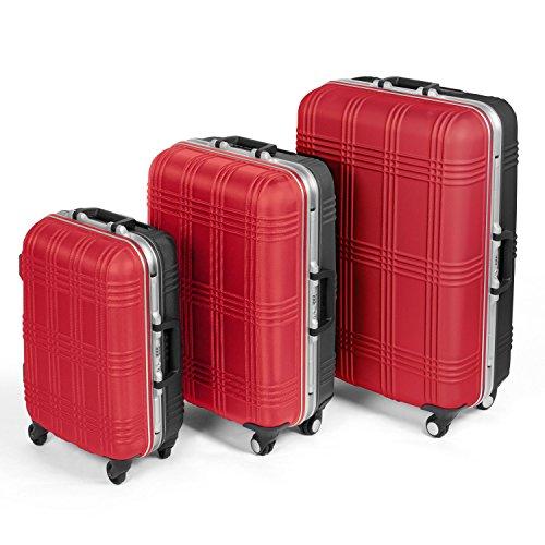 MasterGear - Valises tailles Cabines, Medium ou Grandes - Set de 3 Valises possibles - Coque ABS rigide résistante et légère - Cadenas TSA - 4 Roulettes 360° - Plusieurs Coloris dispo !