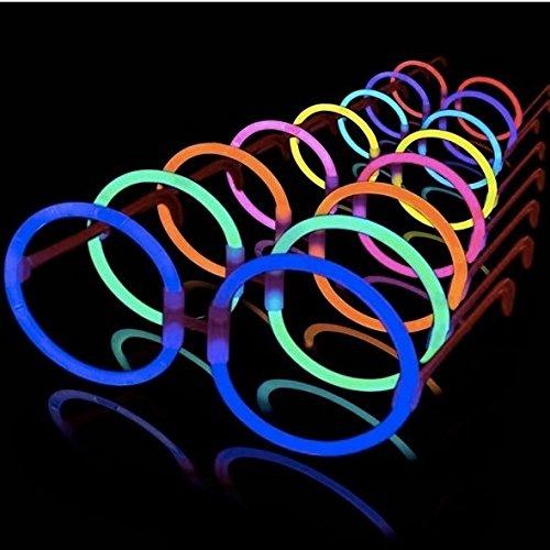 La Vida Led 25 Gafas Luminosas Glow Hippie Redondas