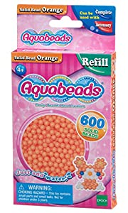 Aquabeads- Solid Beads, Color Naranja (Epoch para Imaginar 32518)