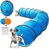 Masthome 505 cm lang Spielzeug Tunnel für Katzen und Hunde,Training TunnelHaustier inkl Heringe und Transporttasche,Spielzeug Tunnel für Katzen, Kaninchen, Hunde, Haustiere