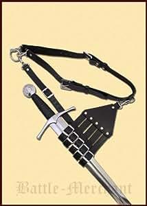 Gürtel mit Halterung für Rapiere, Säbel und Schwerter Bandelier - Mittelalter - Degen