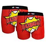 The Big Bang Theory - Herren Boxershorts mit Design BAZINGA! - Offizielles Merchandise - 2 Paar - XL