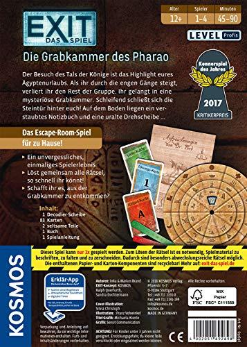 KOSMOS Spiele 692698 – Exit – Das Spiel, Die Grabkammer des Pharao, Kennerspiel des Jahres 2017 - 2