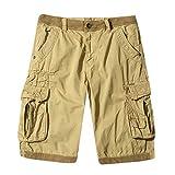 Sannysis Herren Chino Shorts Bermuda Kurze Hose Cargo Shorts Bermuda Sweatshorts Jogging Hose Leinenshorts Chino Laufshorts Shorts Casual Sommer locker