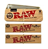 RAW Kiffer Set 3tlg.: 2x Connoisseur KS Slim Papers inkl. Tips - Blechdose Cone Caddy