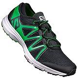 Salomon Herren Crossamphibian Swift Traillaufschuhe, schwarz Black/Classic Green, 48 EU