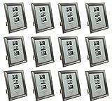 Bilderrahmen Rahmen Fotorahmen Antik Silber 13 cm x 18 cm 12 Stück