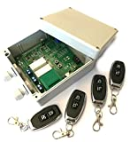 Set 4x Handsender und Funk Empfänger Steuerung für alle 433MHz Sender mit Keeloq, universal programmierbar, 2 Kanal mit je 230V / max. 16A Relais, ADK-7 als Garagensteuerung, Lampensteuerung, Jalousiesteuerung, Pumpensteuerung etc. einsetzbar (neue Version)