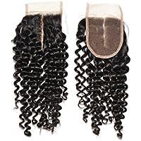 Quercy Hair® morbido texture indiani Remy Silk base chiusura con