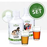 AniForte Barf-Öl Set 2 mit je 500ml Leinöl und Lachsöl – Naturprodukt für Hunde und Katzen