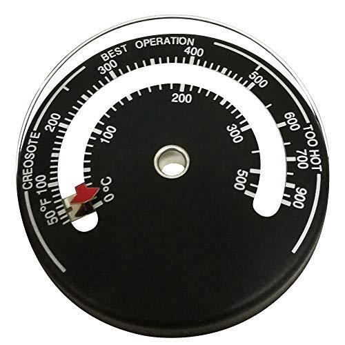 Guilty Gadgets ® Ofenrohr Magnetthermometer, Holzscheite, Kamin, Abzugsheizung, Temperaturmessgerät - Kamin Den Für Holzscheite