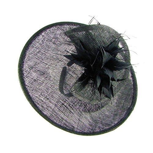 Preisvergleich Produktbild Andalucia gefaltet Sinamay Disc Haarband Fascinator schwarz (b204blk)