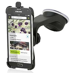 Wicked Chili Design KFZ-Mount für Samsung Galaxy S5 / S5 Neo (passgenau, vibrationsfrei, QuickFix) schwarz
