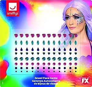 Smiffys 49086 - Gemas para la cara de la mujer, multicolor, talla única