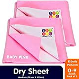 BeyBee- Baby Waterproof Sheets Medium Size Combo Pack of 2 Pink