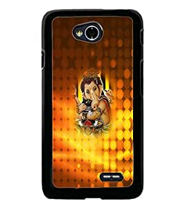 PrintDhaba Lord Ganesha D-4533 Back Case Cover for LG L90 (Multi-Coloured)