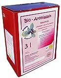BIO Aroniasaft 3l Box, Neue Ernte 2018, Muttersaft, 100% Direktsaft, Original von Aronia Kühnert, 3 Liter, 100% BIO Muttersaft aus vollreifen Beeren, 3l Aronia Saft Hohenstein-Ernstthal