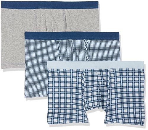 New Look Herren Badehose Check Pack Blau