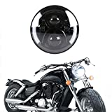 ZHITEYOU 1 Stücke 7 Zoll Runde 50 watt Auto Led scheinwerfer High/Abblendlicht mit blinker weiß & gelb Für Harley motorräder