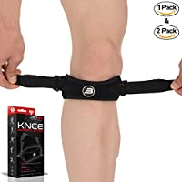 Bionix Premium Patella Tendon Knee Strap Support Brace - One Size, Medical Grade / Silicone Pad Helps Osgood Schlatters Disease / PFPS Jumpers Runners Knee / Patellar Tendonitis Jumper's Knee Caps Band / Running ITBS Injuries Chondromalacia, Patellar Trac