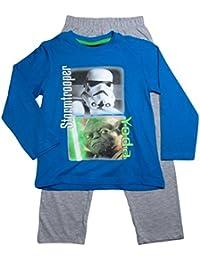 Star Wars Pyjama Kollektion 2016 Lang 104 110 116 122 128 134 140 146 Jungen Neu Schlafanzug Blau-Grau