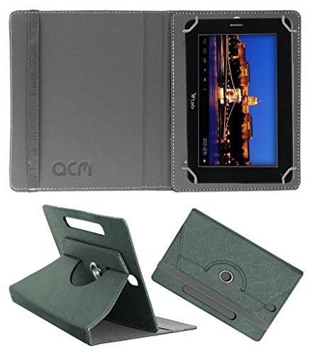 Acm Designer Rotating Leather Flip Case for Bsnl Champion W-Tab 705 Cover Stand Grey  available at amazon for Rs.169
