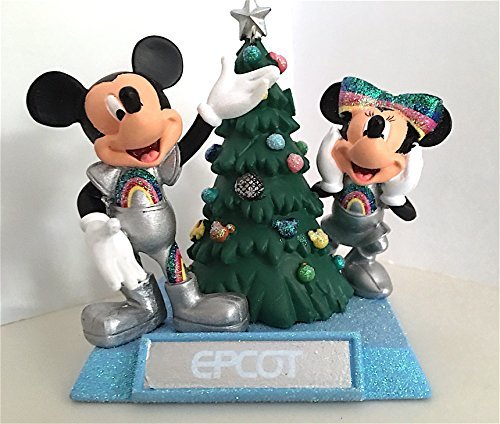 walt-disney-world-parks-mickey-and-minnie-mouse-epcot-figurine-ornament-new-by-disney