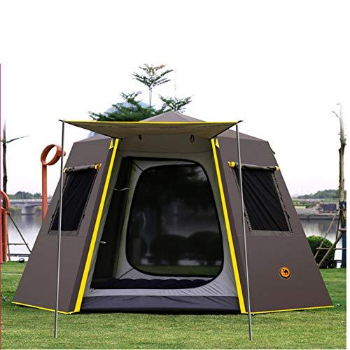 ZHJLOP Tenda Tendada CampeggioAutomatica Pop-up3-4 Persone Protezione UV Tenda da Campeggio Esterna Impermeabile Cabana Sun Shelter Beach Tenda
